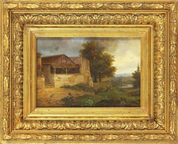 4: Continental Scholl Painting 19c.