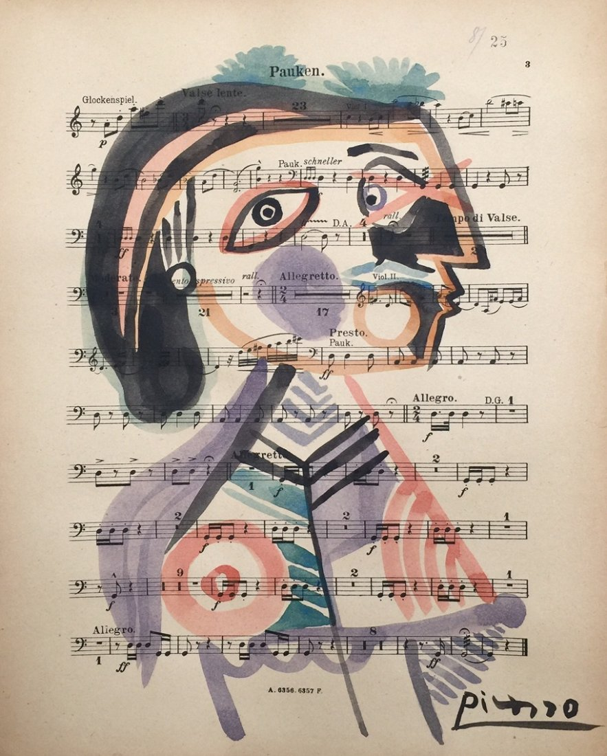 Pablo Picasso watercolor on paper