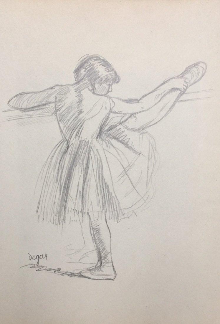 Edgar Degas graphite on paper
