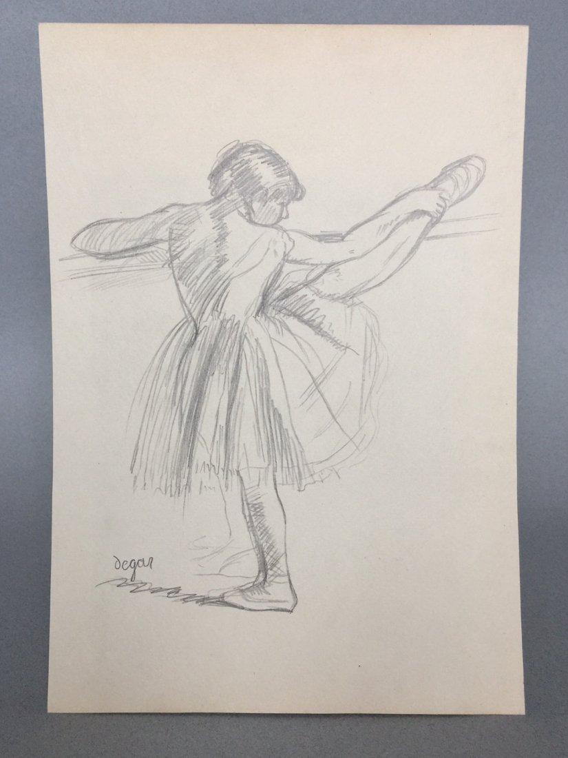 Edgar Degas graphite on paper - 2