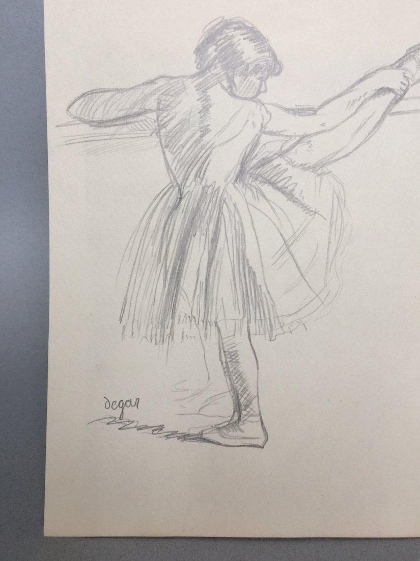 Edgar Degas graphite on paper - 3