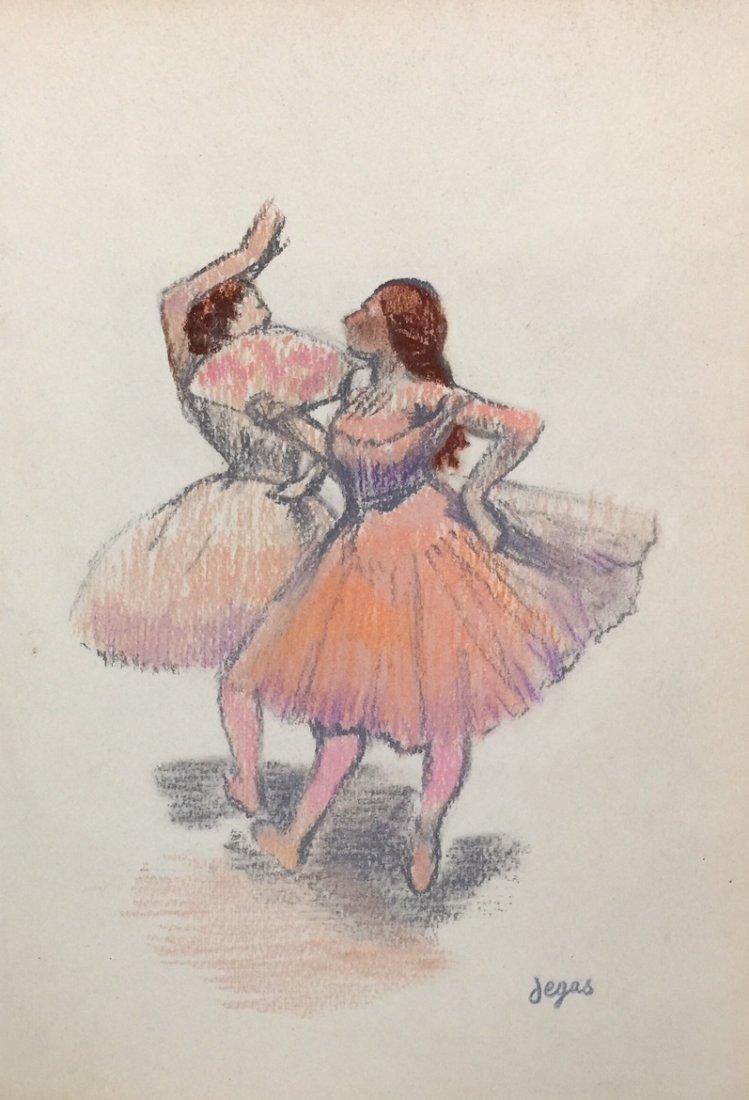 Edgar Degas pastel on paper