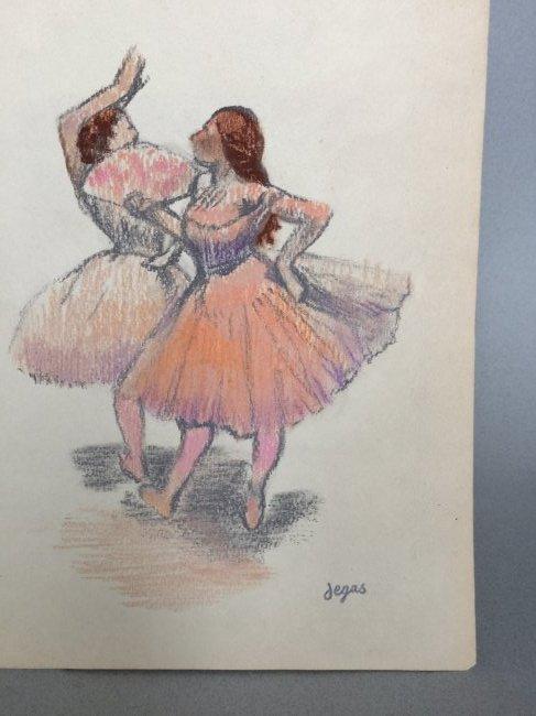 Edgar Degas pastel on paper - 4