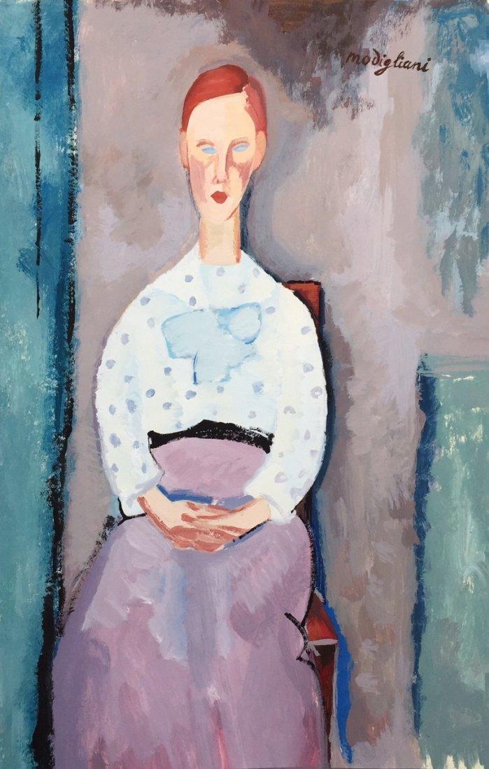 Amedeo Modigliani tempera on paper
