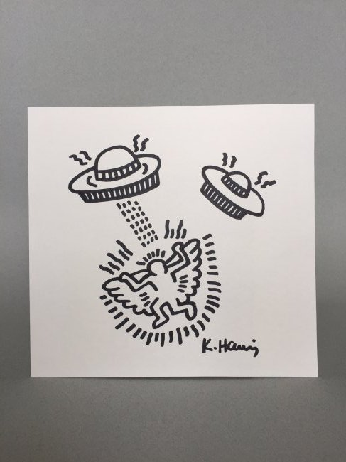 Keith Haring ink drawing on paper - 2