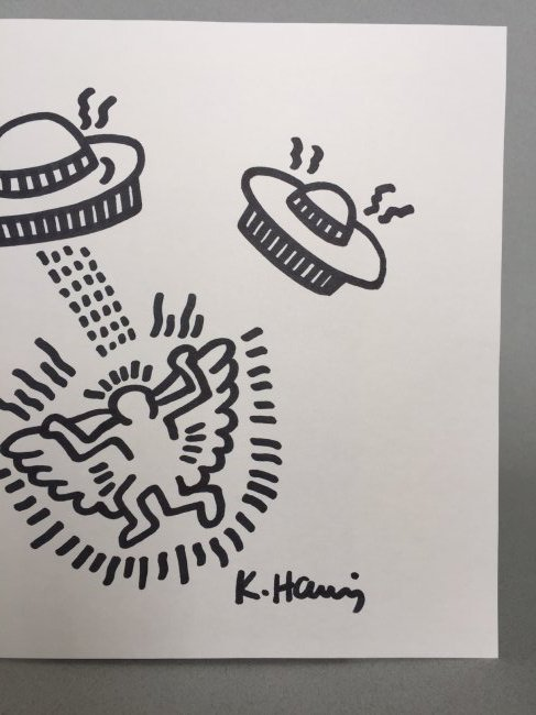 Keith Haring ink drawing on paper - 3
