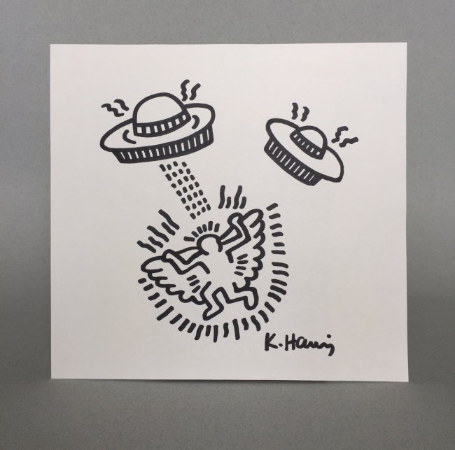 Keith Haring ink drawing on paper - 4
