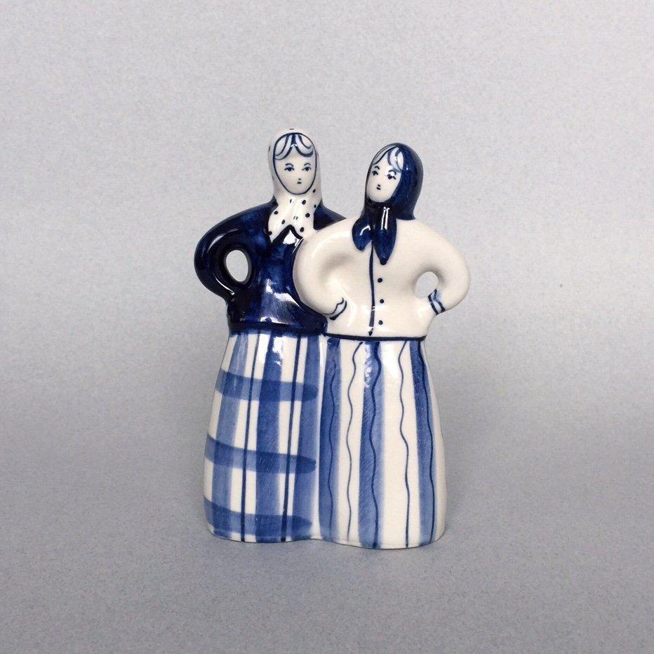 Russian porcelain figurine Gzhel