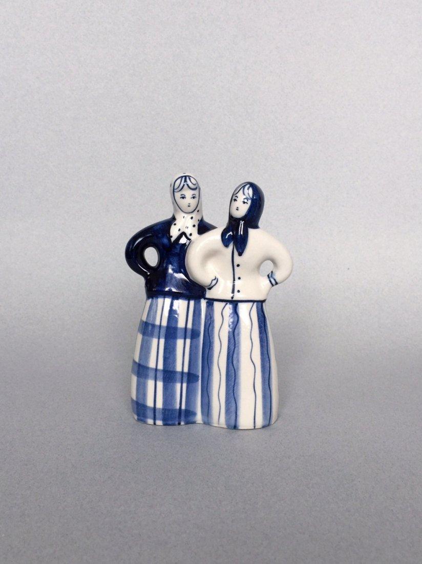 Russian porcelain figurine Gzhel - 5