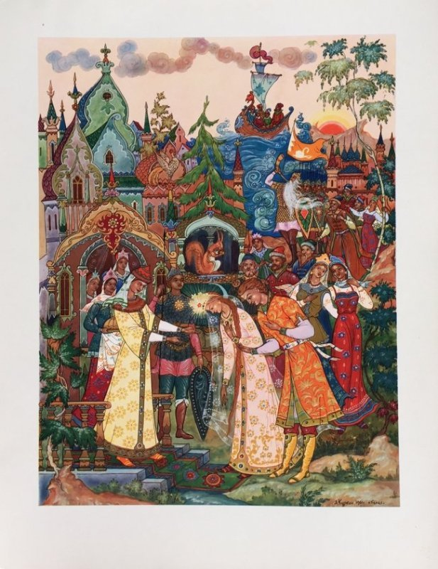 Russian fairy tale and postcards, Palekh