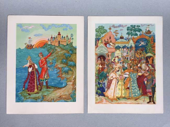 Russian fairy tale and postcards, Palekh - 4