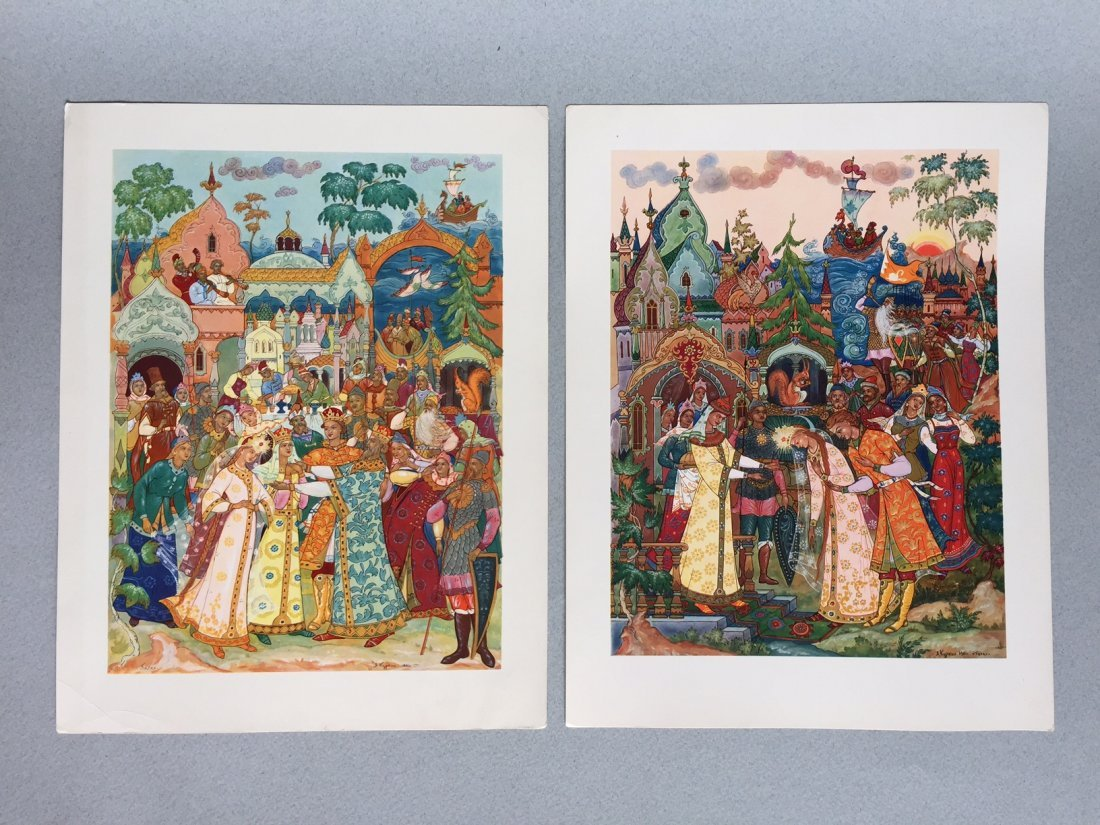 Russian fairy tale and postcards, Palekh - 6
