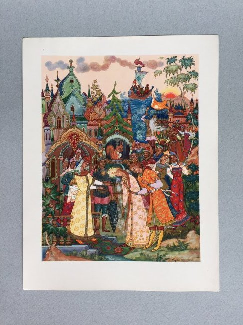 Russian fairy tale and postcards, Palekh - 7
