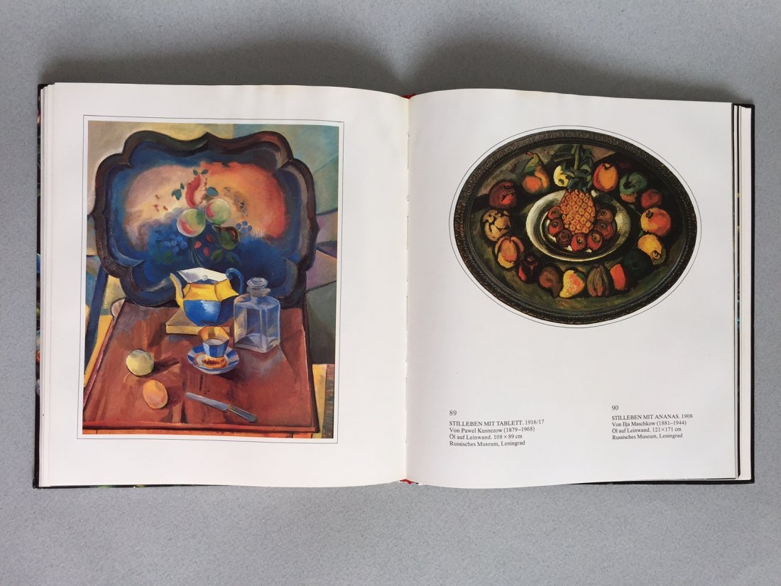 Book Russian hand painted tray, German language - 10