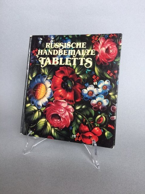 Book Russian hand painted tray, German language - 2