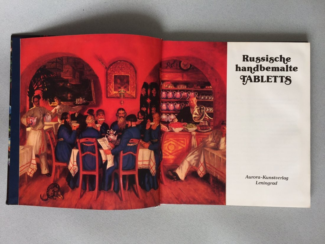 Book Russian hand painted tray, German language - 3