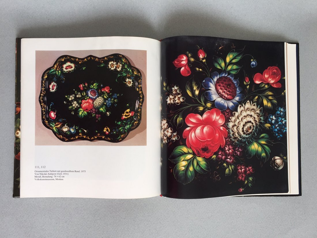 Book Russian hand painted tray, German language - 4
