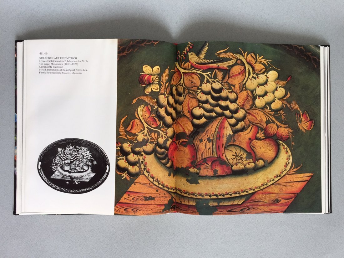 Book Russian hand painted tray, German language - 8
