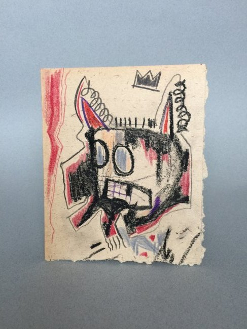 Mixed media on paper signed Jean-Michel Basquiat - 2