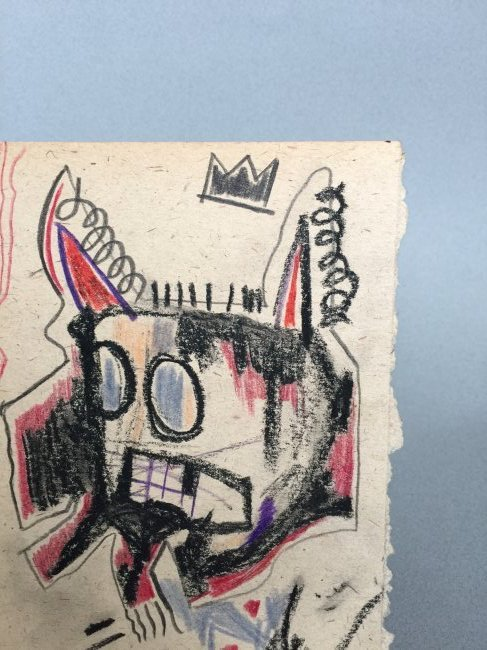 Mixed media on paper signed Jean-Michel Basquiat - 3