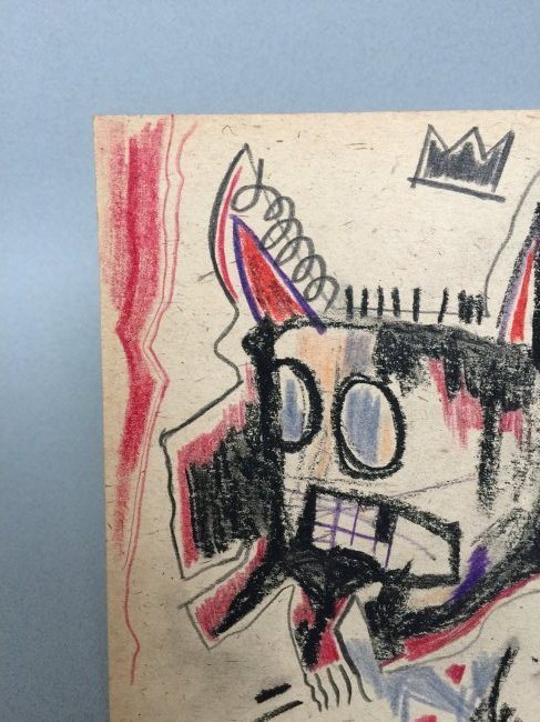 Mixed media on paper signed Jean-Michel Basquiat - 4