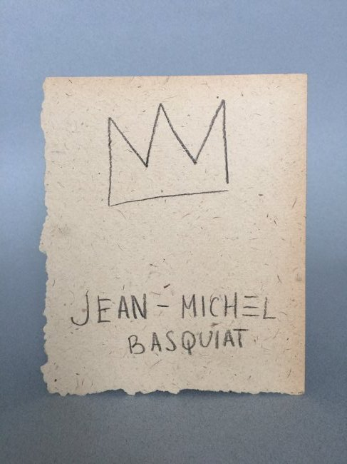 Mixed media on paper signed Jean-Michel Basquiat - 5