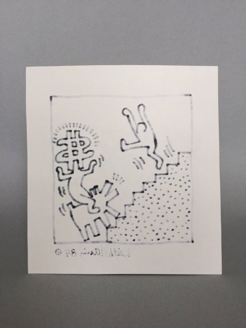 Mixed Media on paper signed Keith Haring - 5