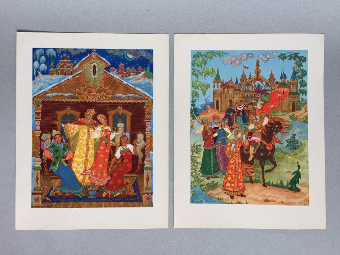 Russian fairy tale and postcards, Palekh - 5