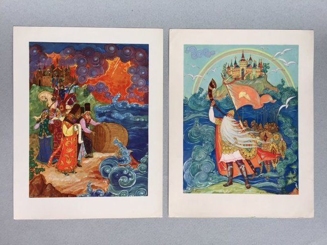 Russian fairy tale and postcards, Palekh - 9