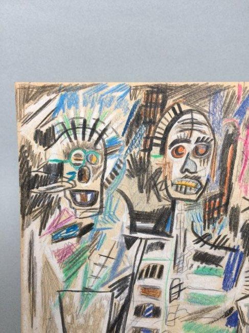 Jean-Michel Basquiat mixed media on paper - 3