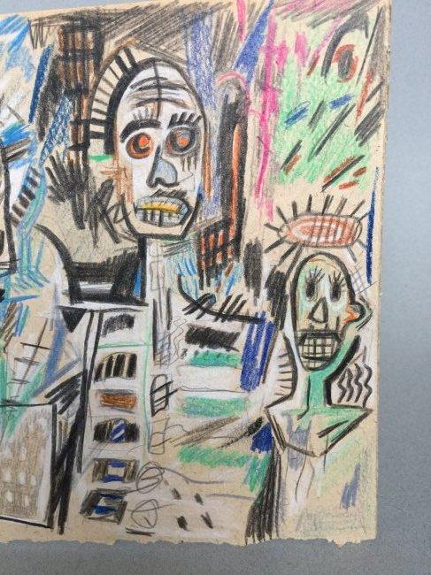 Jean-Michel Basquiat mixed media on paper - 4