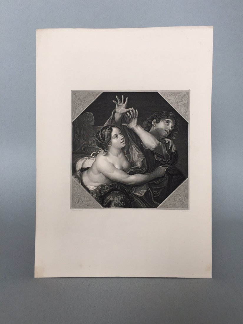 Engraving On Paper Signed In Print C. Cignani - 2