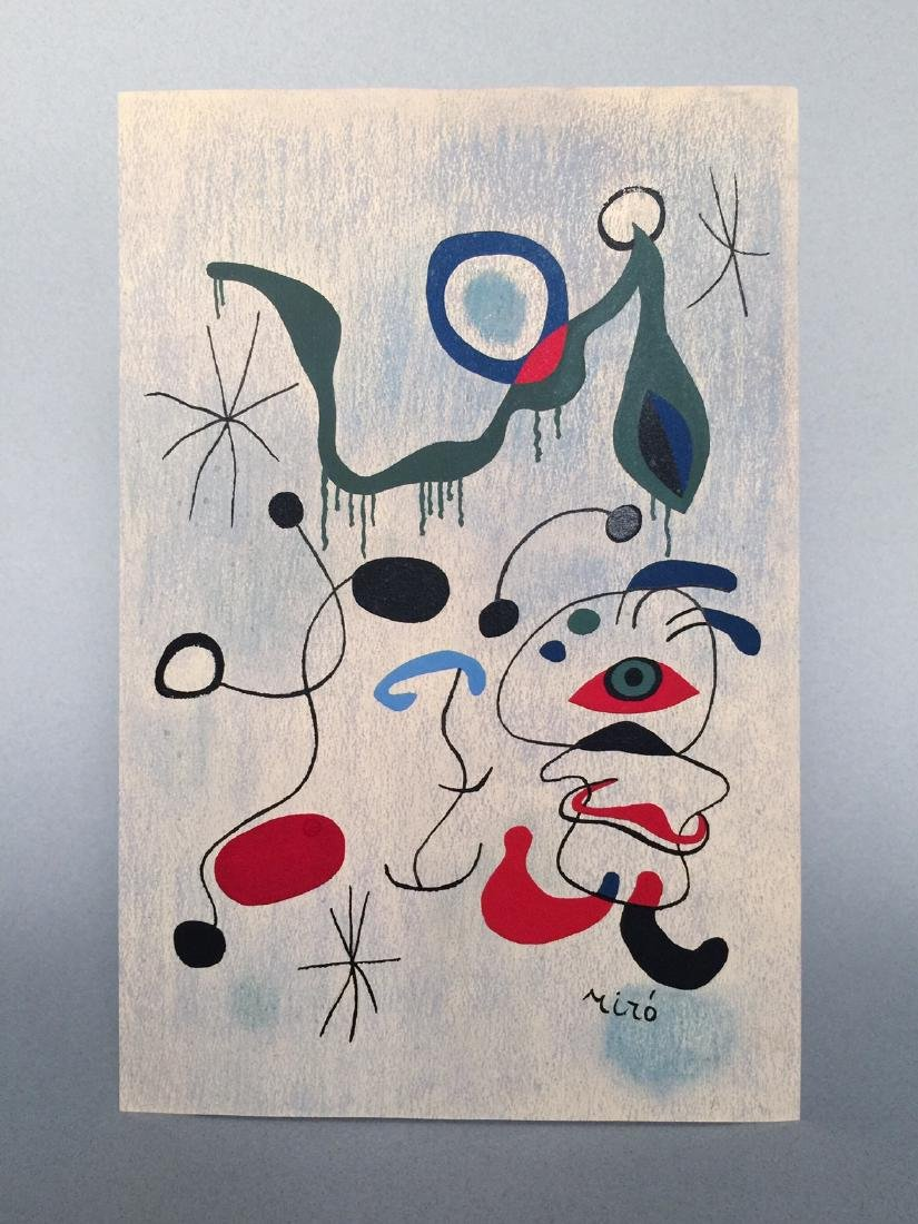 Joan Miro pastel, tempera on paper - 5