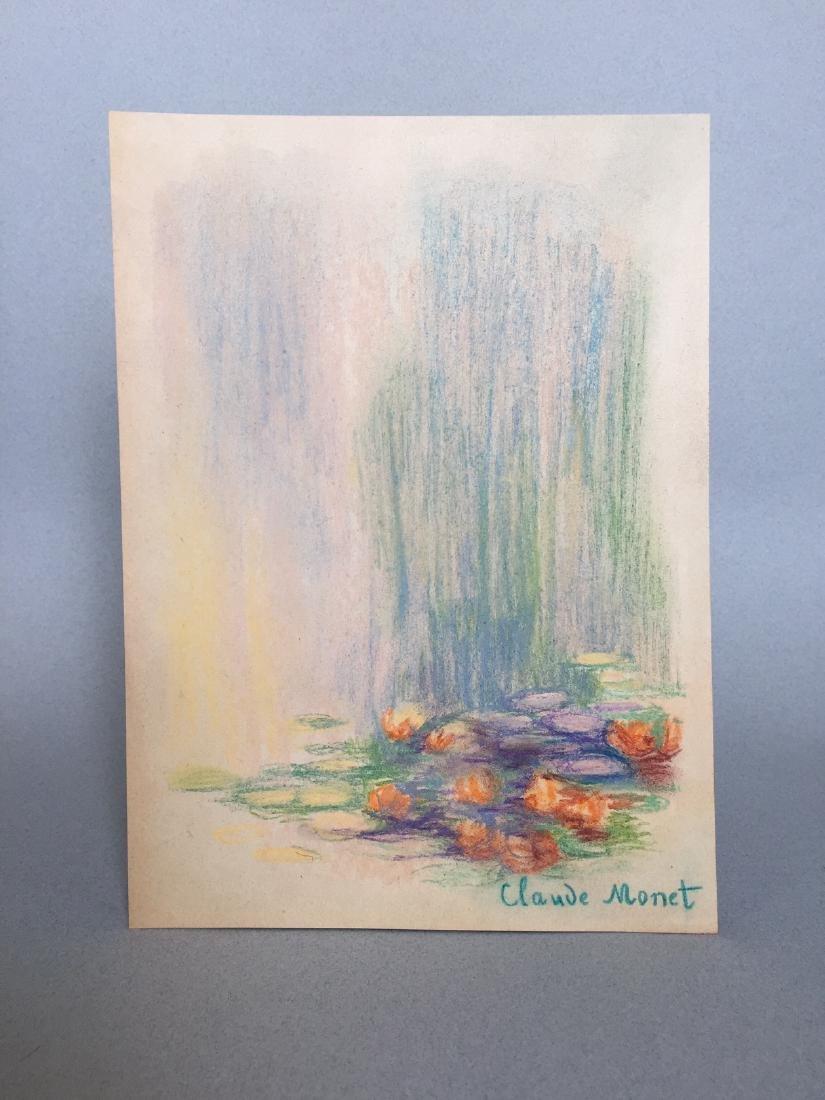 Claude Monet pastel on paper - 2