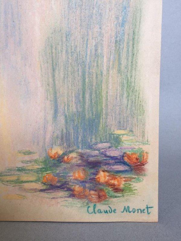 Claude Monet pastel on paper - 3