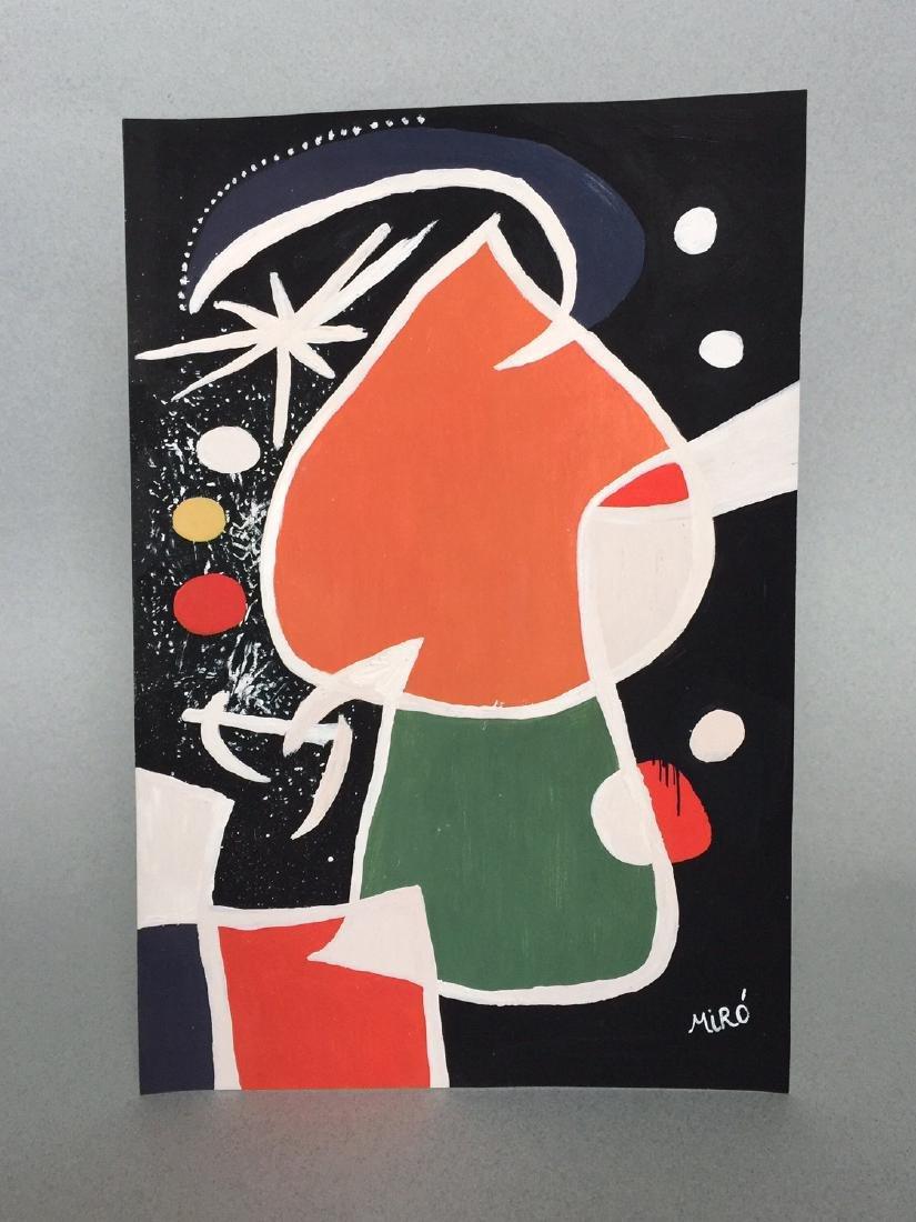 Joan Miro tempera on paper - 2