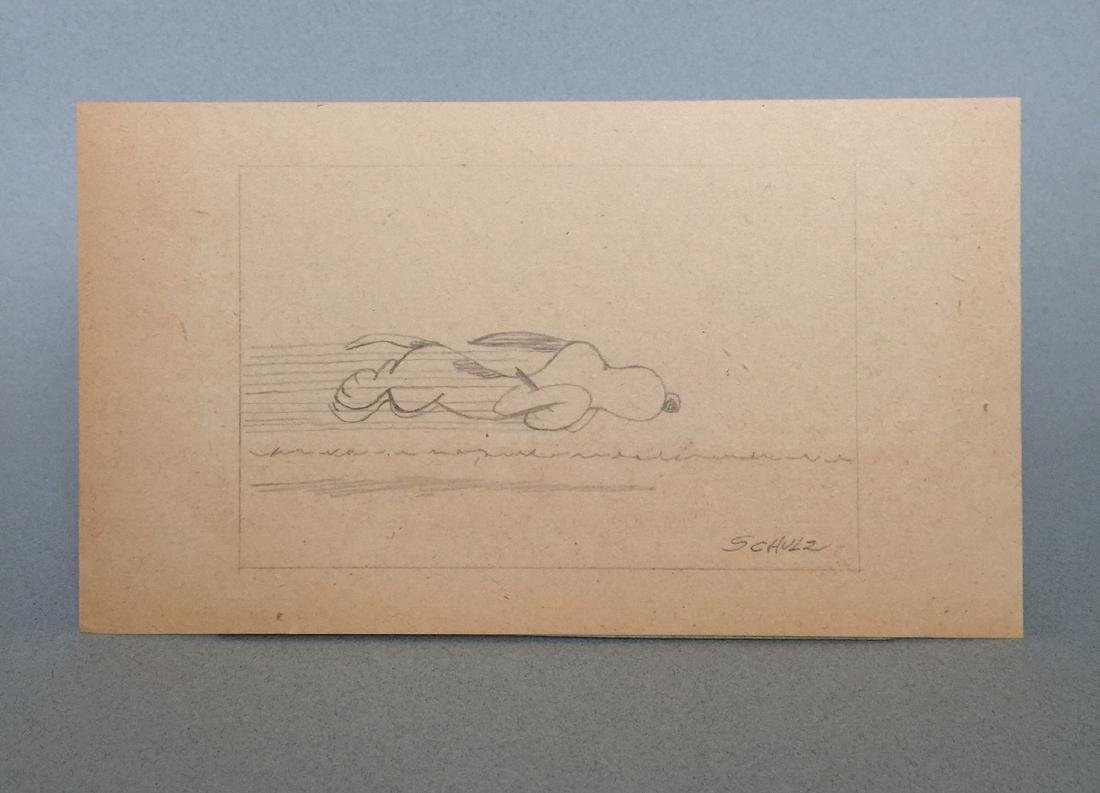 Crayon on paper signed Schulz - 2