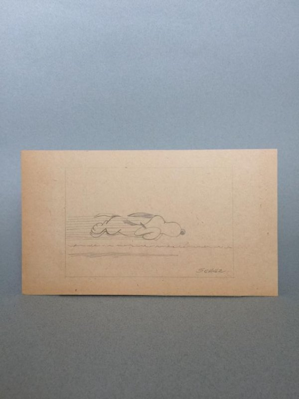 Crayon on paper signed Schulz - 3