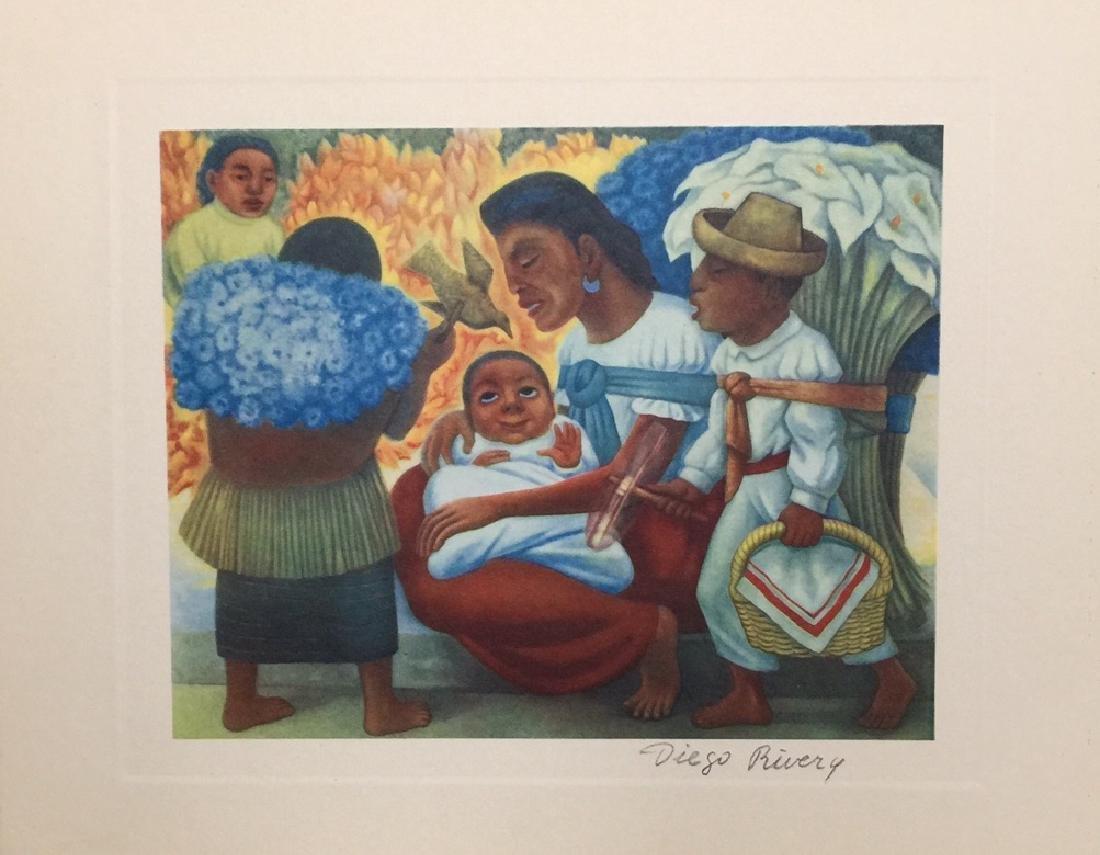 Diego Rivera offset print lithograph