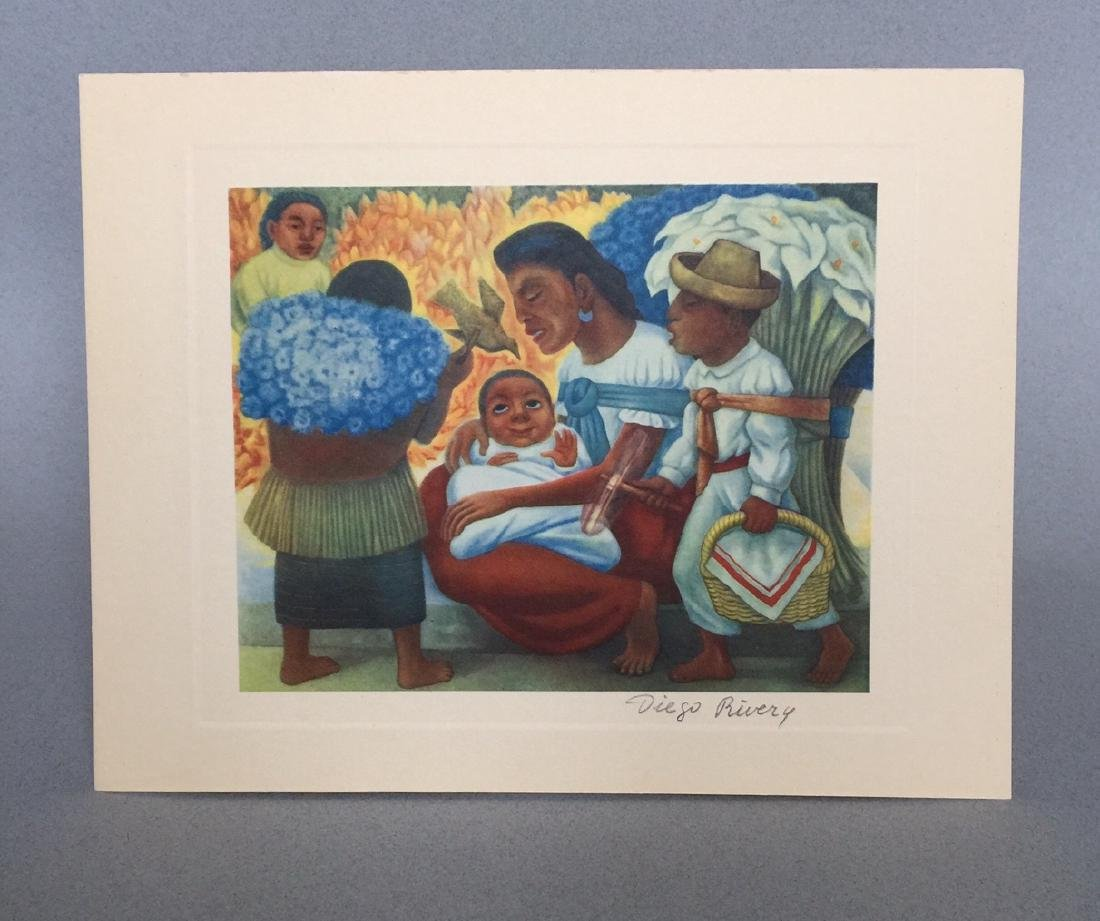 Diego Rivera offset print lithograph - 2