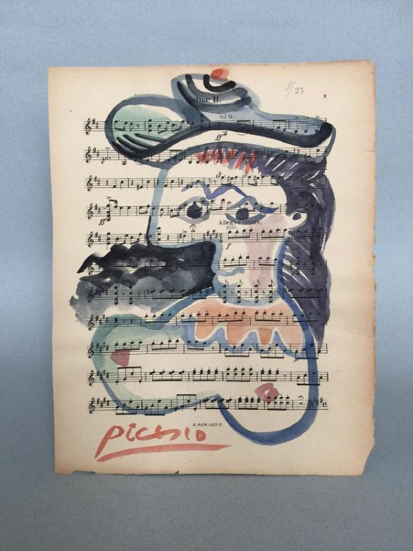 Watercolor on paper signed Picasso - 2
