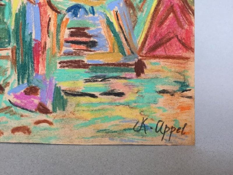 Mixed media on paper signed Appel - 4