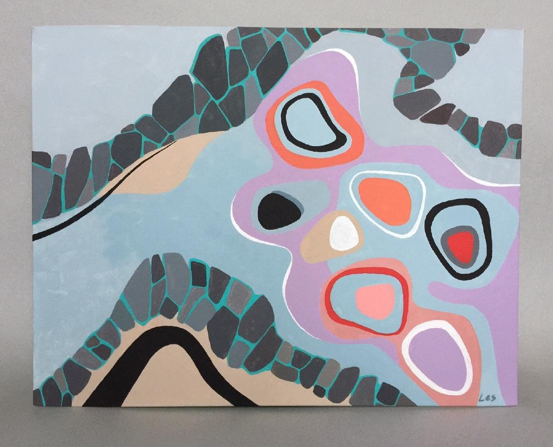 Modern art, Abstract, acrylic on canvas - 2