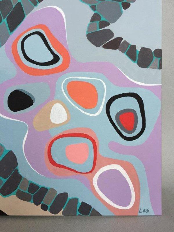 Modern art, Abstract, acrylic on canvas - 3