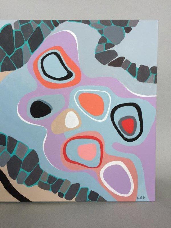 Modern art, Abstract, acrylic on canvas - 7
