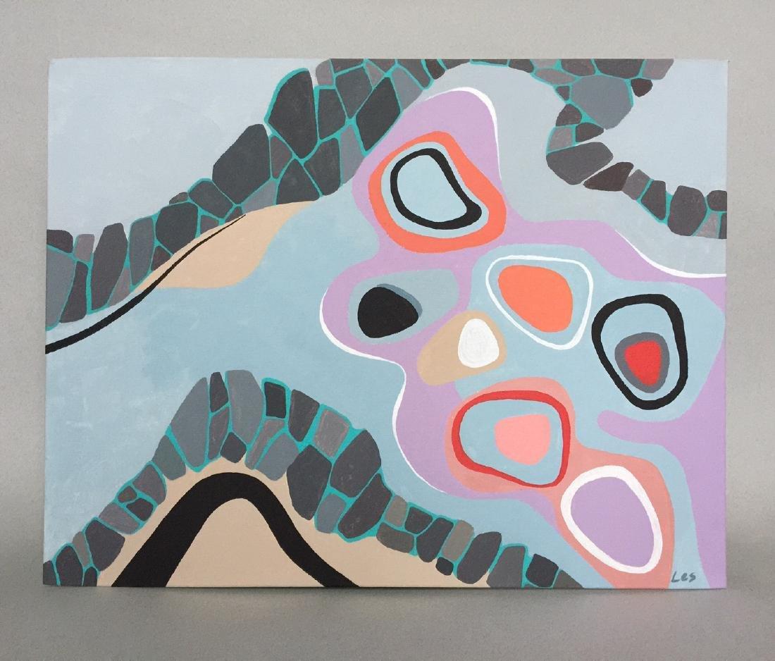 Modern art, Abstract, acrylic on canvas - 9