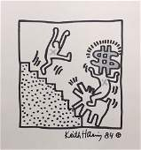 Mixed Media on paper signed Keith Haring