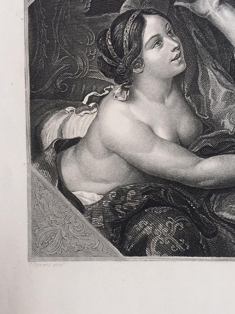 Engraving On Paper Signed In Print C. Cignani - 3
