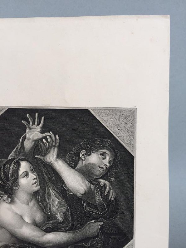 Engraving On Paper Signed In Print C. Cignani - 6