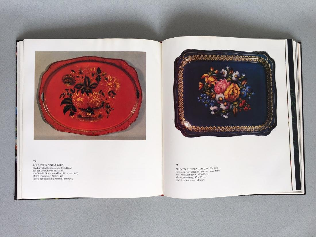 Book Russian hand painted tray, German language - 6